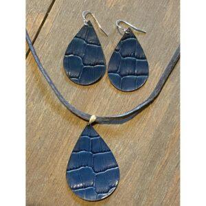 Sterling Silver Leather Earrings